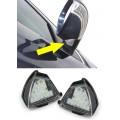 LED apgaismojums ārējos spoguļos