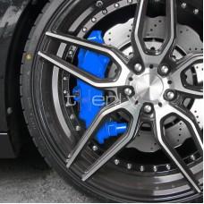 Bremžu supporta krāsošanas komplekts, zils.