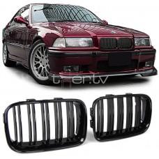 BMW e36 (91-96) reste, M-style, glancēti melnas