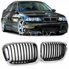 BMW e46 4D/5D (98-01) reste, hromēta/melna