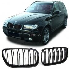 BMW e83 (06-11) reste, M-style, glancēti melna