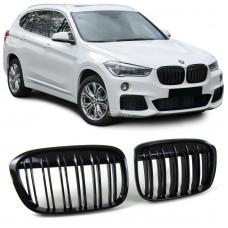 BMW X1 f48 (14-) reste, M-style, glancēti melna