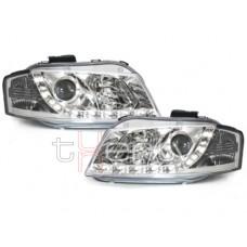 Audi A3 8P (03-08) DRL lukturi, hromēti