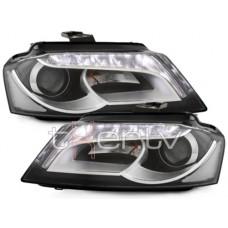 Audi A3 8PA (09-14) DRL lukturi, melni