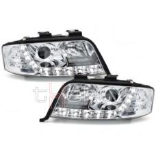 Audi A6 C5 (01-04) DRL lukturi, hromēti