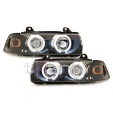 BMW e36 2D (91-98) CCFL lukturi, melni