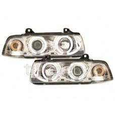 BMW e36 2D (91-98) CCFL lukturi, hromēti