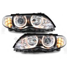 BMW e46 4D/5D (01-) lukturi, LED pagriezienu rādītāji, hromēti