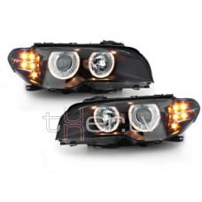 BMW e46 2D (03-06) lukturi, LED pagriezienu rādītāji, melni