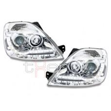 Ford Fiesta (02-08) LED lukturi, hromēti