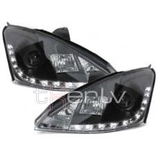 Ford Focus (98-01) DRL lukturi, melni
