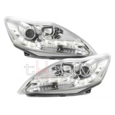 Ford Focus (08-11) LED lukturi, hromēti