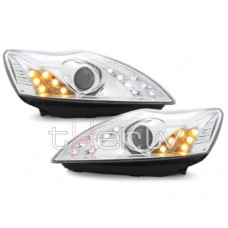 Ford Focus (08-11) LED lukturi, LED pagriezienu rādītāji, hromēti