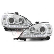 Mercedes w163 (98-01) LED lukturi, hromēti
