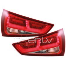 Audi A1 8X (11-) LED aizmugurējie lukturi, red/crystal