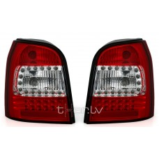 Audi A4 B5 Avant (95-01) LED aizmugurējie lukturi, red/crystal