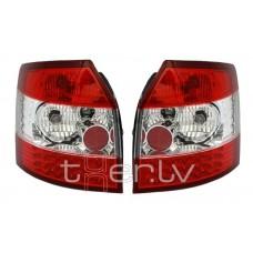 Audi A4 B6 Avant (01-04) LED aizmugurējie lukturi, red/crystal