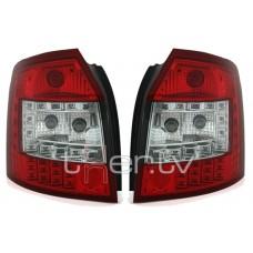 Audi A4 B6 Avant (01-04) LED aizmugurējie lukturi, red/crystal 2