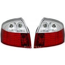 Audi A4 B6 (01-04) LED aizmugurējie lukturi, red/crystal 2