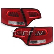Audi A4 B7 Avant (05-08) LED aizmugurējie lukturi, red/crystal