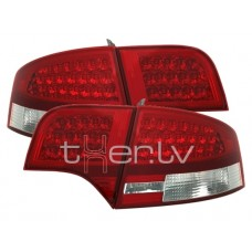 Audi A4 B7 (04-07) LED aizmugurējie lukturi, red/crystal