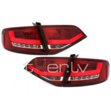 Audi A4 B8 (07-10) LED aizmugurējie lukturi, red/crystal
