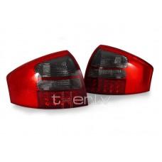Audi A6 C5 (97-05) LED aizmugurējie lukturi, red/smoked