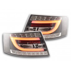 Audi A6 C6 (04-08) LED aizmugurējie lukturi, black/crystal