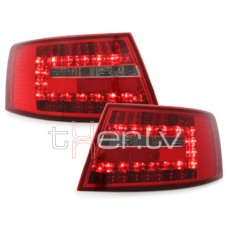 Audi A6 C6 (04-08) LED aizmugurējie lukturi, red/crystal 2