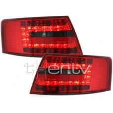 Audi A6 C6 (04-08) LED aizmugurējie lukturi, red/smoked 2