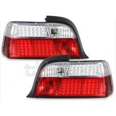 BMW e36 Coupe/Cabrio (92-99) LED sarkani/hromēti