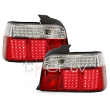 BMW e36 Sedan (91-98) LED red/crystal