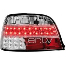 BMW e38 (94-01) LED aizmugurējie lukturi, hromēti