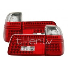 BMW e39 Touring (97-04) LED aizmugurejie lukturi, red/crystal