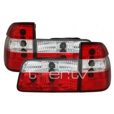 BMW e39 Touring (97-04) aizmugurejie lukturi, red/crystal