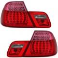 BMW e46 Coupe (99-03) LED aizmugurejie lukturi, sarkani/roza