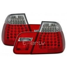 BMW e46 Sedan (98-01) LED aizmugurejie lukturi, sarkani/hromēti