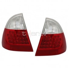 BMW e46 Touring (99-05) LED aizmugurejie lukturi, red/crystal 2