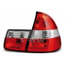 BMW e46 Touring (99-05) aizmugurejie lukturi, sarkani/hromēti 2
