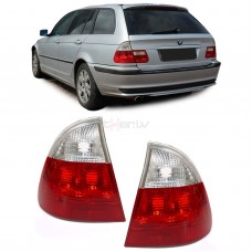 BMW e46 Touring (99-05) aizmugurejie lukturi, sarkani/balti