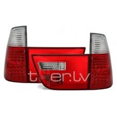 BMW X5 e53 (99-06) LED aizmugurejie lukturi, red/crystal