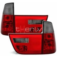 BMW X5 e53 (99-06) aizmugurejie lukturi, red/smoked