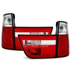 BMW X5 e53 (99-06) LED aizmugurejie lukturi, red/crystal 2
