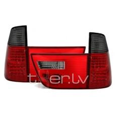 BMW X5 e53 (99-06) LED aizmugurejie lukturi, red/smoked