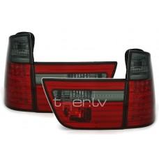 BMW X5 e53 (99-06) LED aizmugurejie lukturi, red/smoked 2