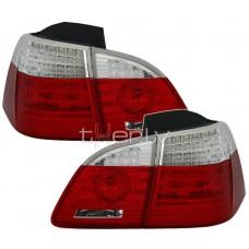 BMW e61 (04-07) LED aizmugurējie lukturi red/crystal