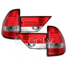 BMW X3 e83 (04-06) LED red/crystal