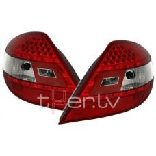 Mercedes SLK r171 (03-10) LED aizmugurējie lukturi, red/crystal 2