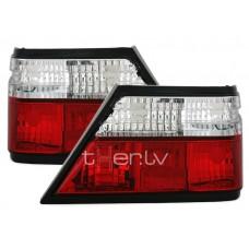Mercedes W124 (85-95) aizmugurējie lukturi red/crystal 2