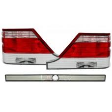 Mercedes w140 (96-98) aizmugurējie lukturi, red/crystal